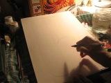 Хохломская роспись. Подготовительный рисунок
